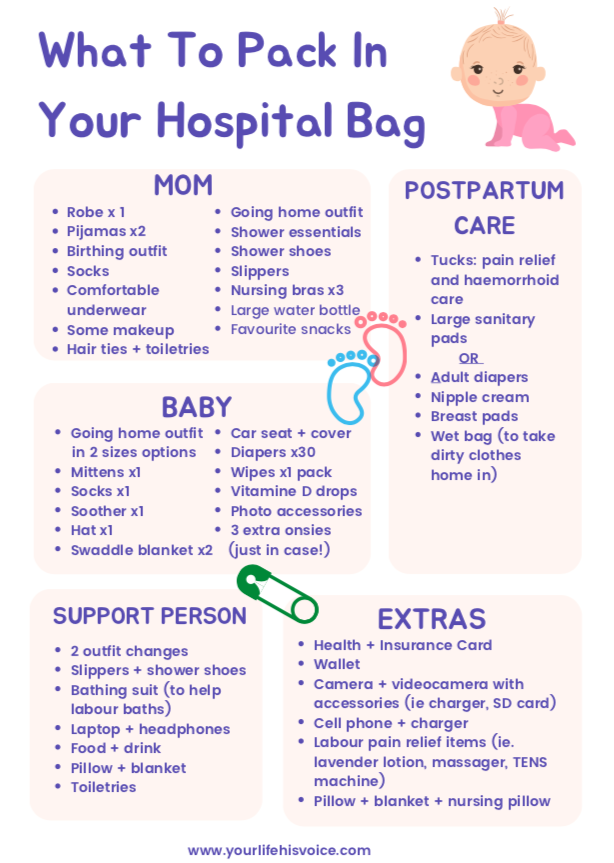 What To Pack For A Hospital Birth